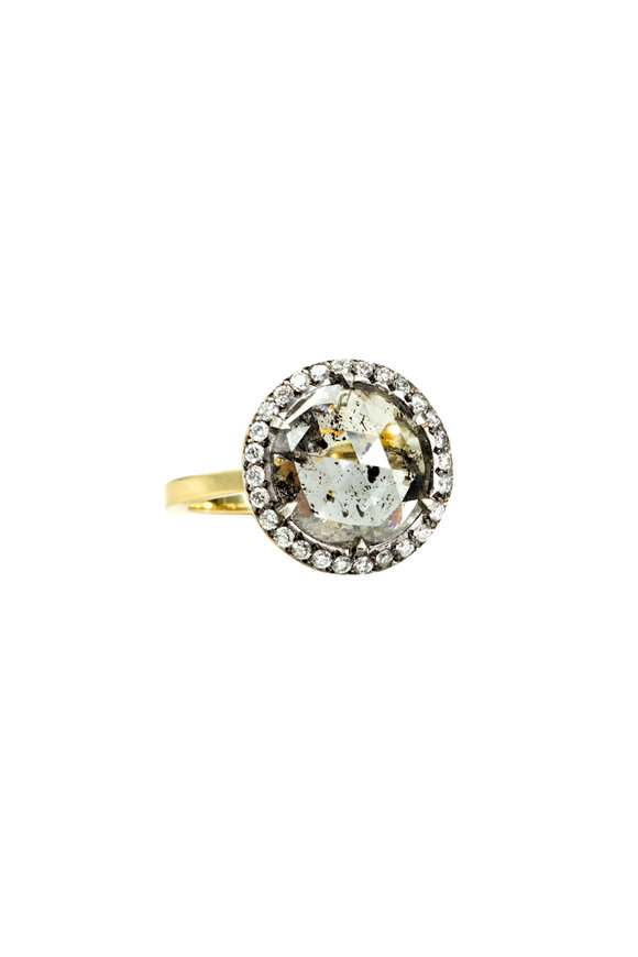 Sylva & Cie 18K Yellow Gold Rough Diamond Ring