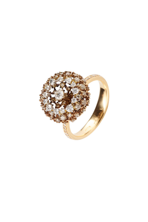 Mariani 18K Yellow Gold Brown Diamond Ring