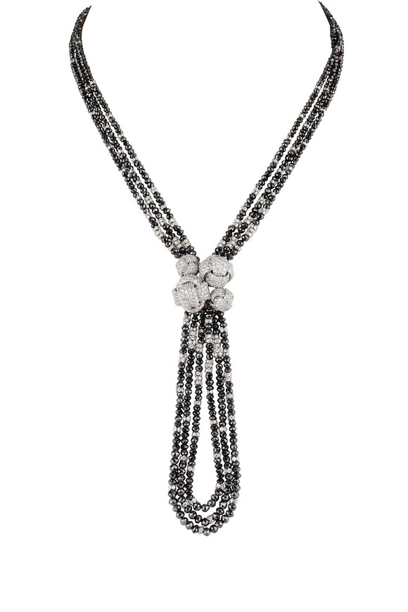 Mariani 18K White Gold Black & White Diamond Necklace