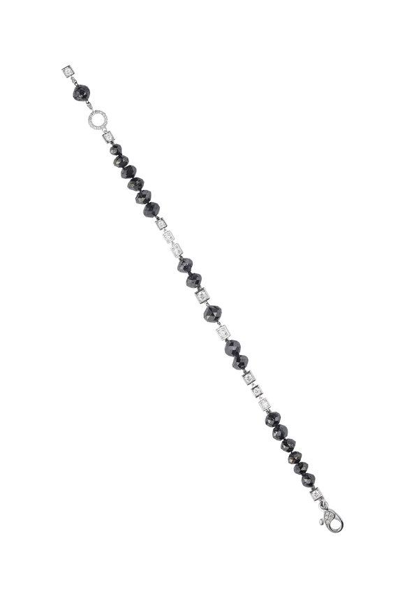 Mariani White Gold Black & White Diamond Wrap Bracelet