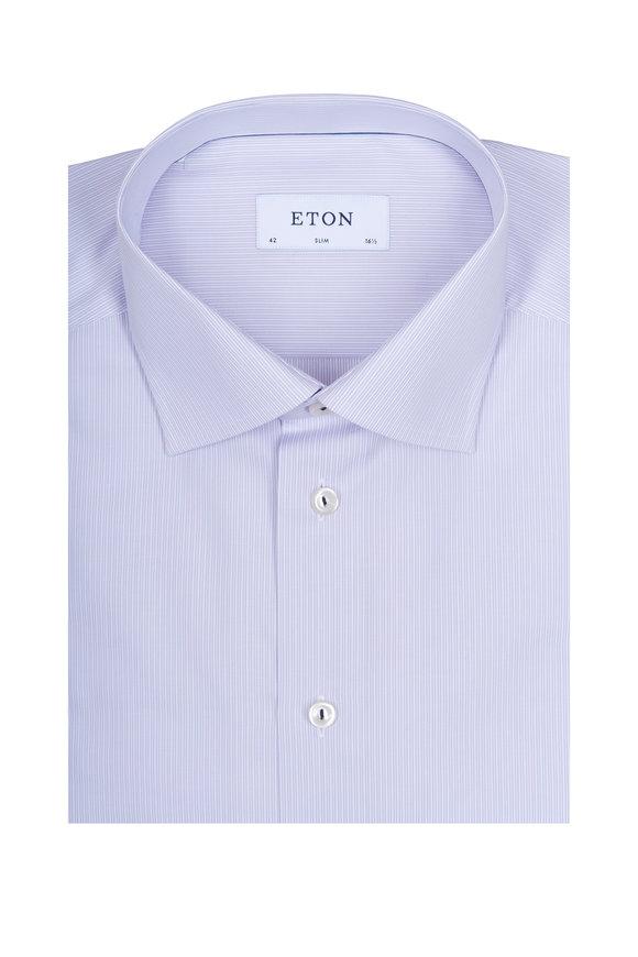 Eton Lavender Striped Slim Dress Shirt