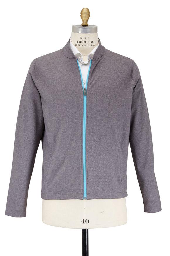 Peter Millar Chamonix Smoke Gray Stretch Knit Power Jacket