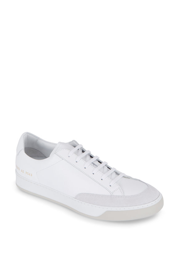 Common Projects Tennis Pro White Leather Sneaker