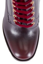 Prada - Cordovan Leather Lace-Up Boot, 105mm