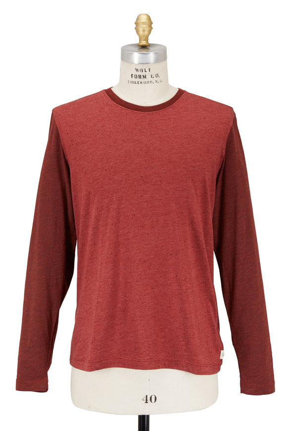 Agave Shoaling Red Colorblock Jersey Knit Top