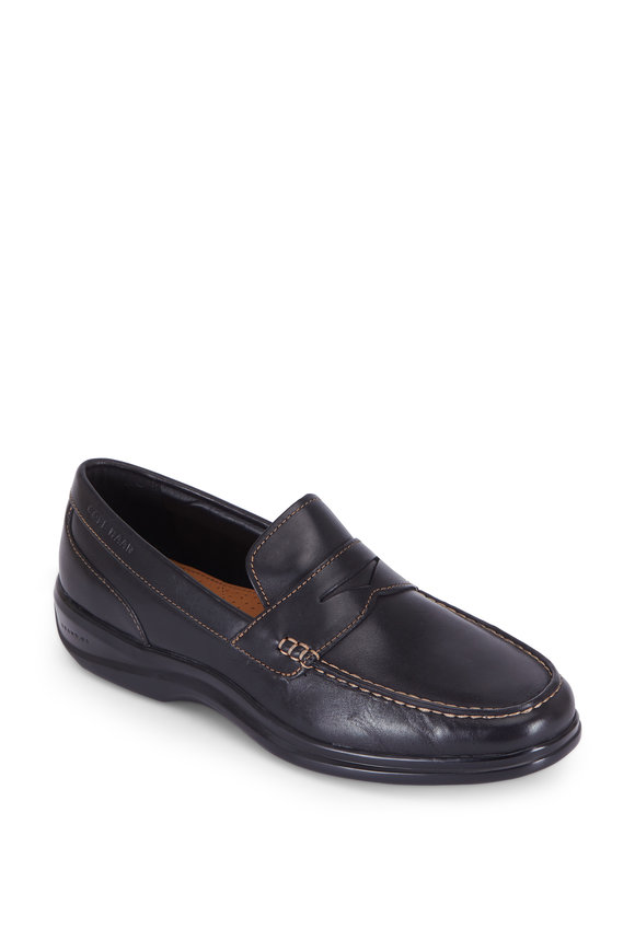Cole Haan Santa Barbara Grand OS Black Leather Penny Loafer