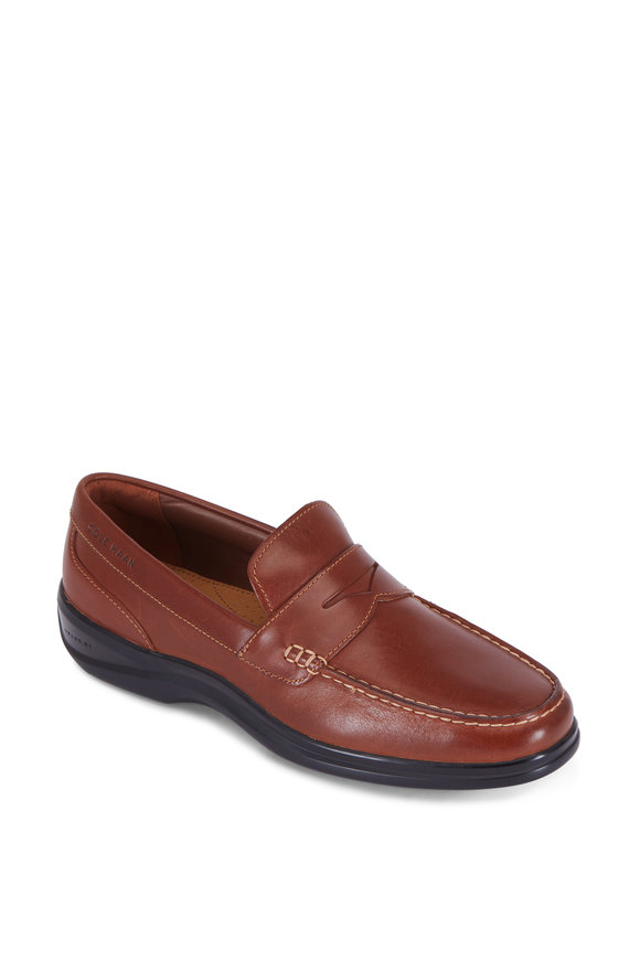 Cole Haan Santa Barbara Grand OS Woodbury Brown Penny Loafer