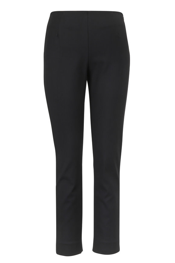 Lela Rose Catherine Black Stretch Twill Slim Pant