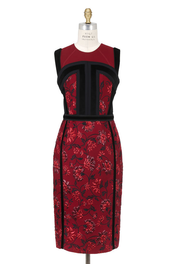 Altuzarra Garnet Lorenza Brocade Velvet Sleeveless Dress