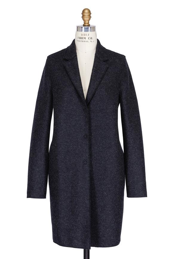 Harris Wharf Anthracite Wool Cocoon Coat