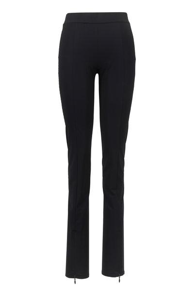 The Row - Nelma Black Front Zip Pant