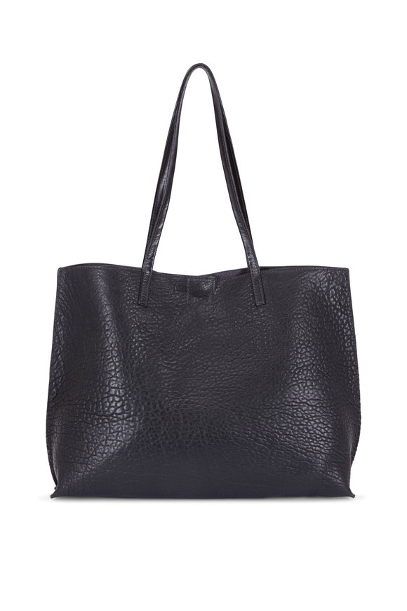 B May Bags Black Washed Lamb Leather Classic Shopper