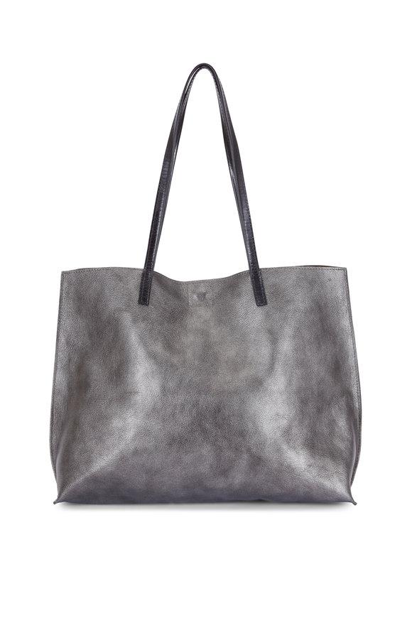 B May Bags Zinc Goat Leather Classic Shopper
