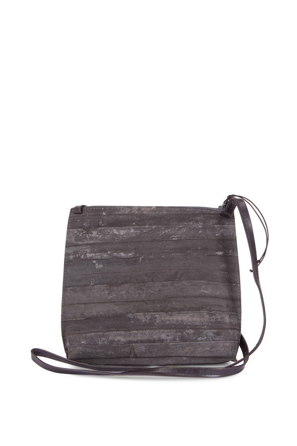 B May Bags Anthracite Reverse Eel Large Strappy Pouch