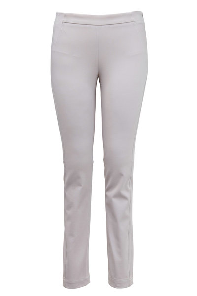 Brunello Cucinelli - Dove Brushed Cotton Skinny Pants