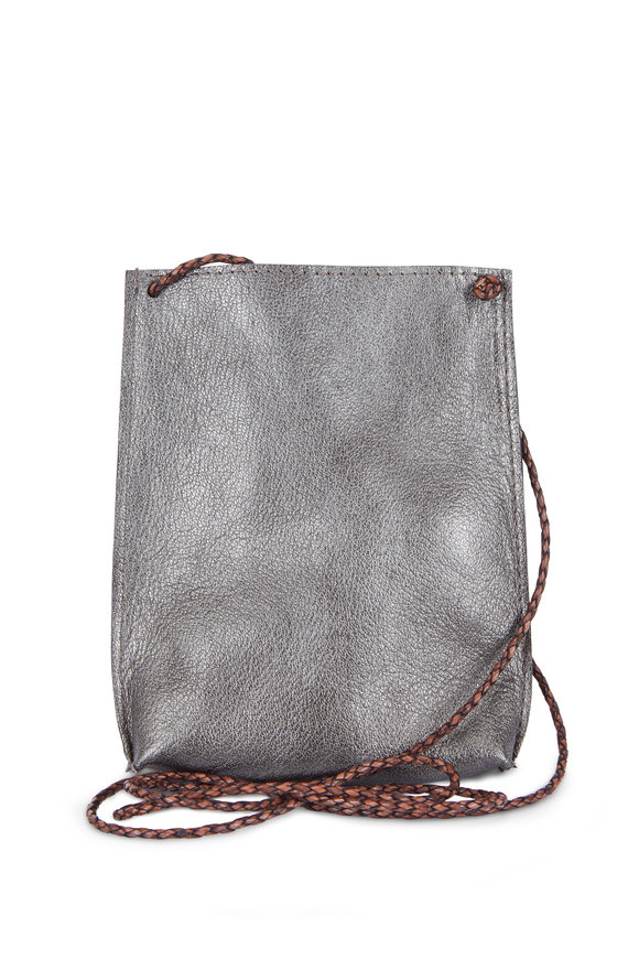 B May Bags Zinc Goat Leather Cell Pouch