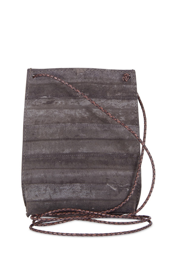 B May Bags Anthracite Reverse Eel Cell Pouch