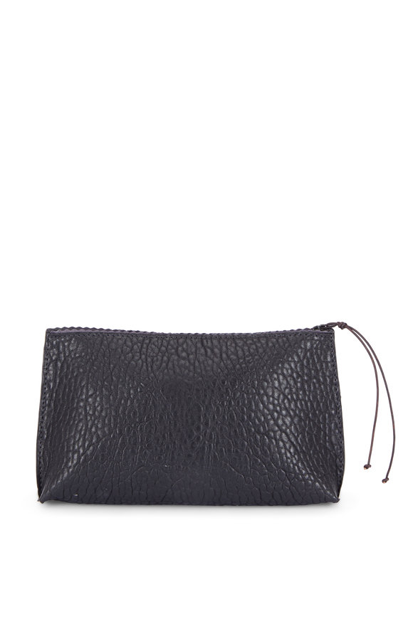 B May Bags Black Washed Lamb Leather Essential Pouch