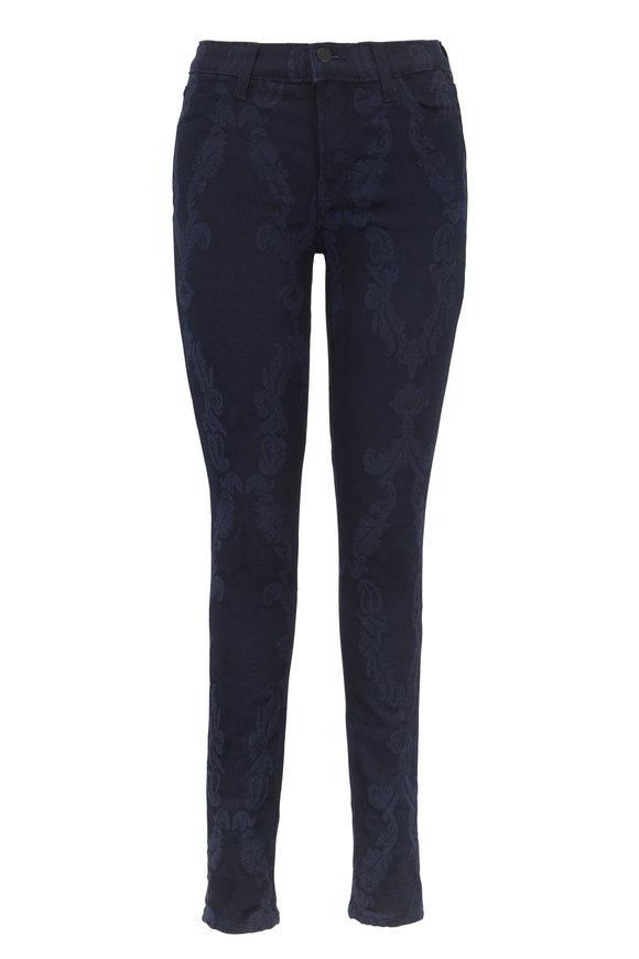 J Brand Super Skinny Embroidered Brocade Jean