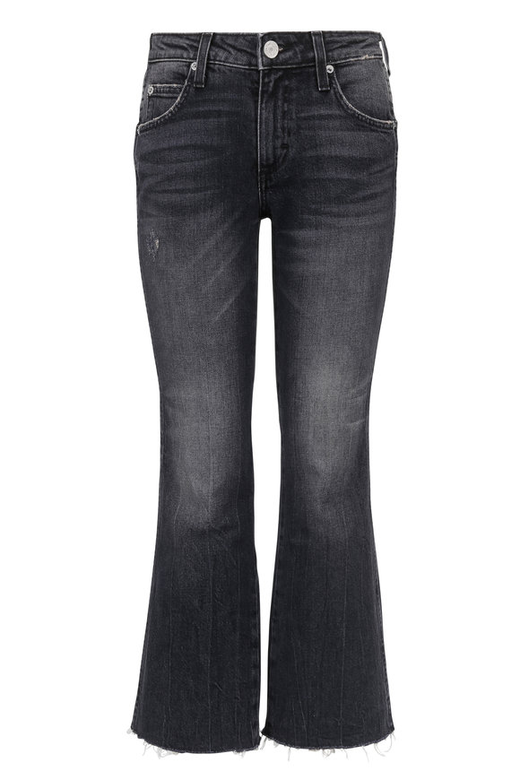 Amo Kick Crop High-Rise Flare Jean