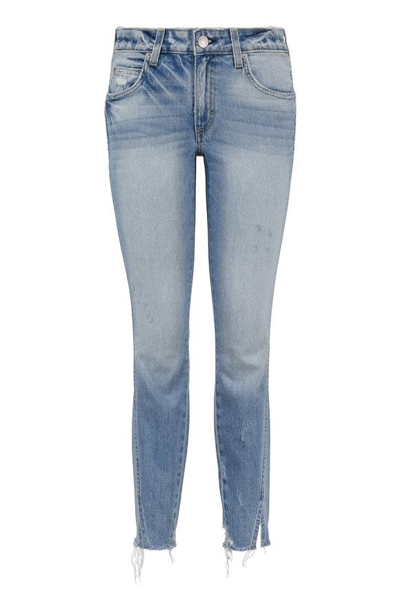 Amo Twist Mid-Rise Skinny Crop Frayed Jean