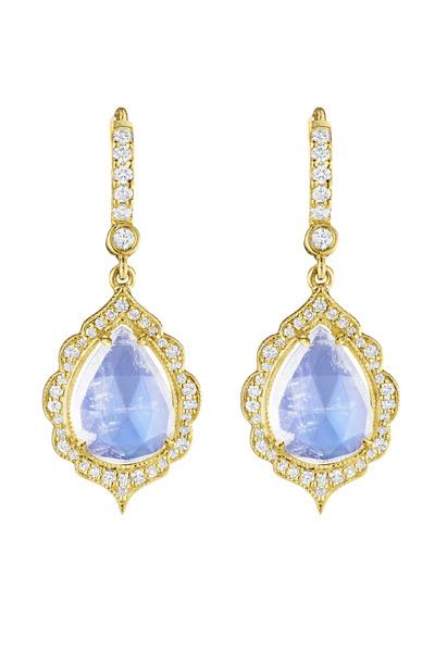 Penny Preville - Gold Diamond Moonstone Earrings