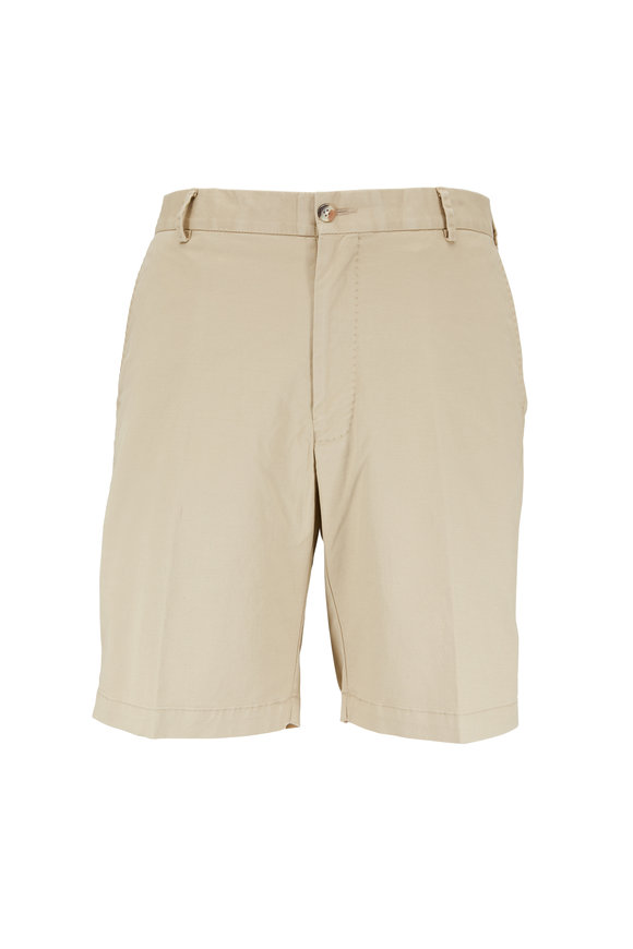 Peter Millar Khaki Soft Wash Stretch Twill Short