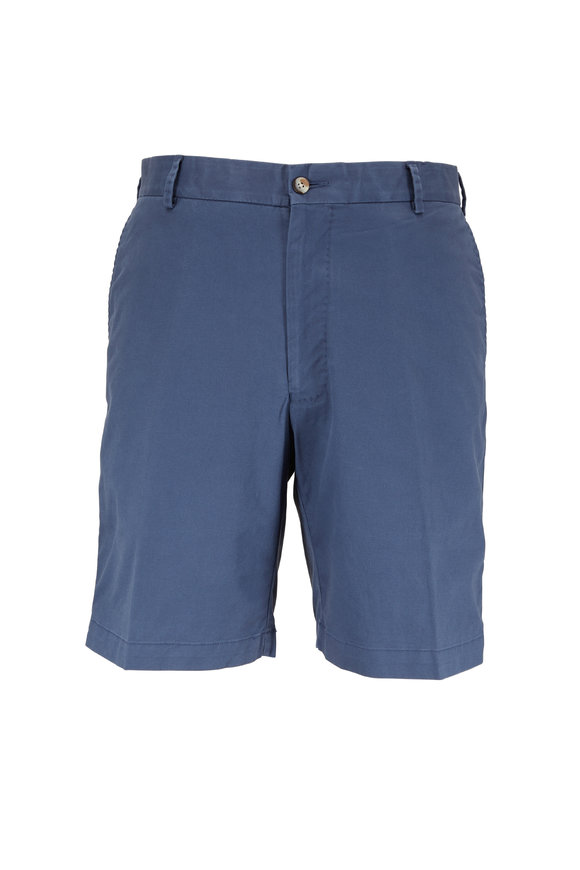 Peter Millar Navy Blue Soft Wash Stretch Twill Short