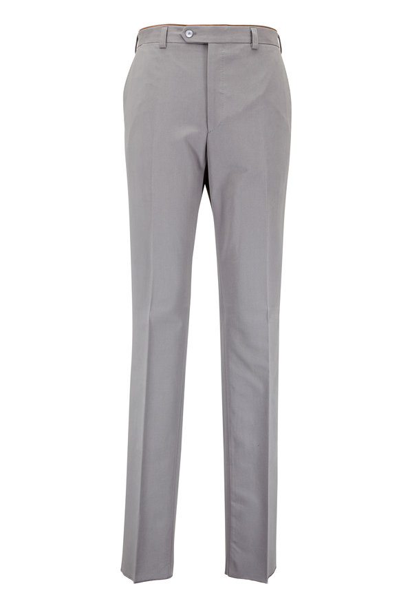 Luciano Barbera Slate Gray Cotton Faille Pant