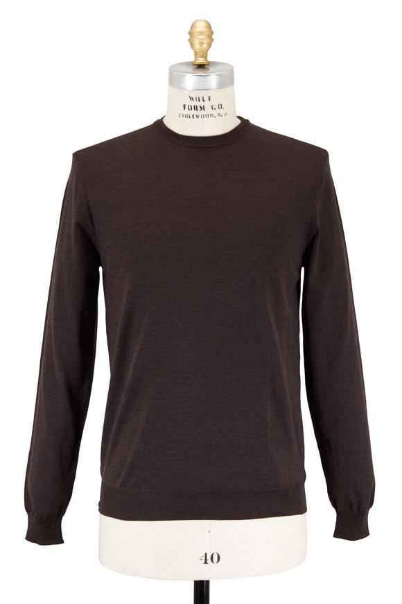 Zanone Brown Flexwool Crewneck Sweater
