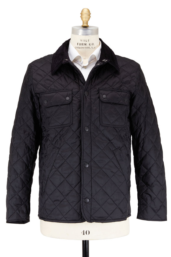 Barbour Tinford Black Quilted Nylon Jacket