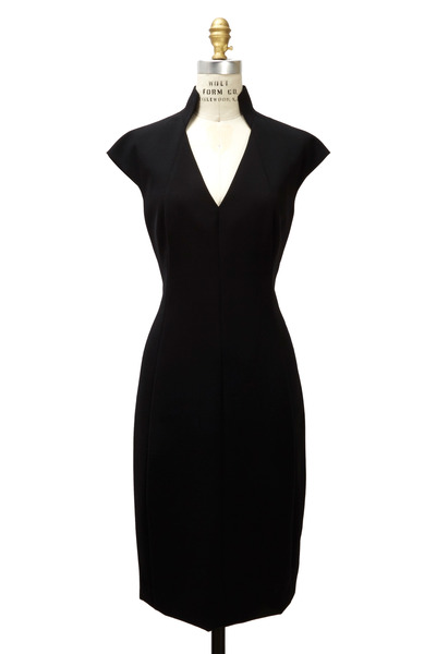 Akris - Black Wool Double Face Dress