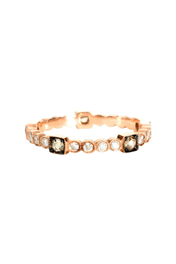 Sylva & Cie 14K Rose Gold Diamond Citadel Band