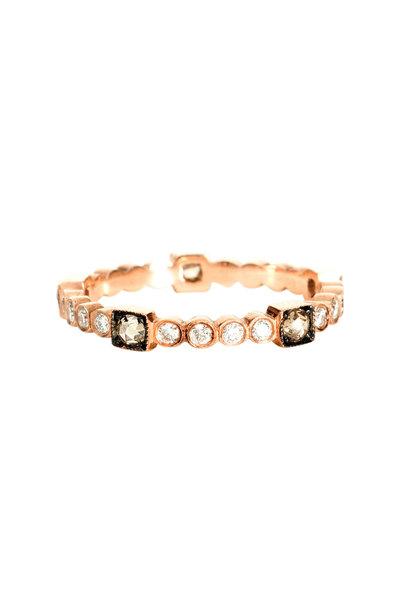 Sylva & Cie - 14K Rose Gold Diamond Citadel Band