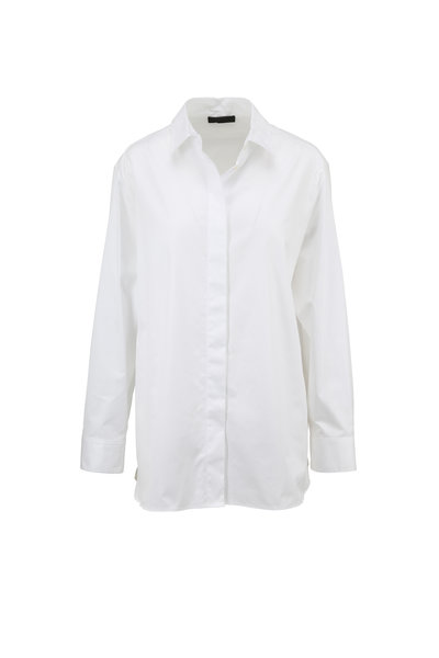 The Row - Juliette Ivory Embroidered Blouse