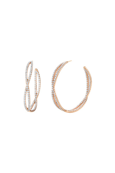 Kwiat - Pink Gold Diamond Hoop Earrings