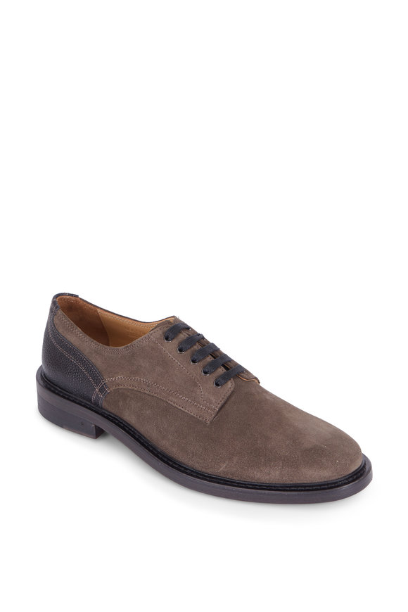 George Brown Fulton Gray Brown Suede Derby