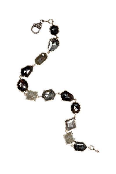 Sylva & Cie - 18K White Gold Rough Diamond Bracelet