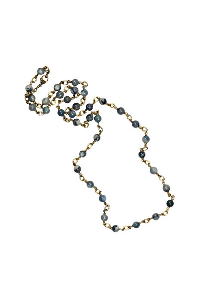 Sylva & Cie - 18K Yellow Gold Opal Beaded Necklace