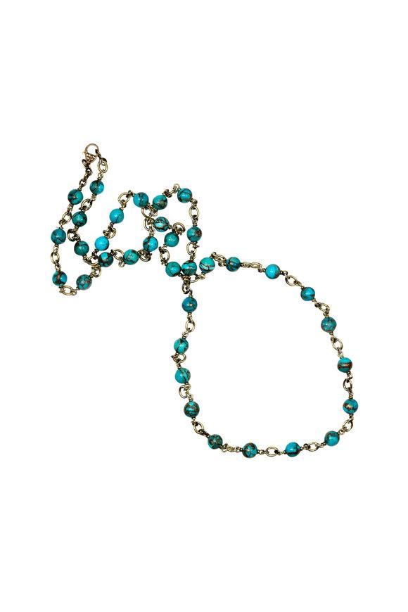 Sylva & Cie Turquoise Necklace