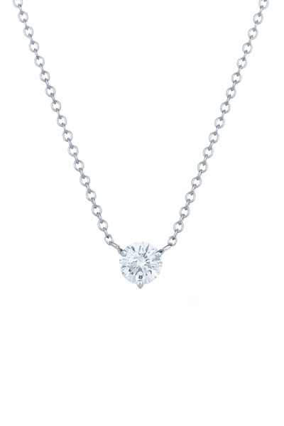 Kwiat - Platinum Classic Solitaire Diamond Pendant