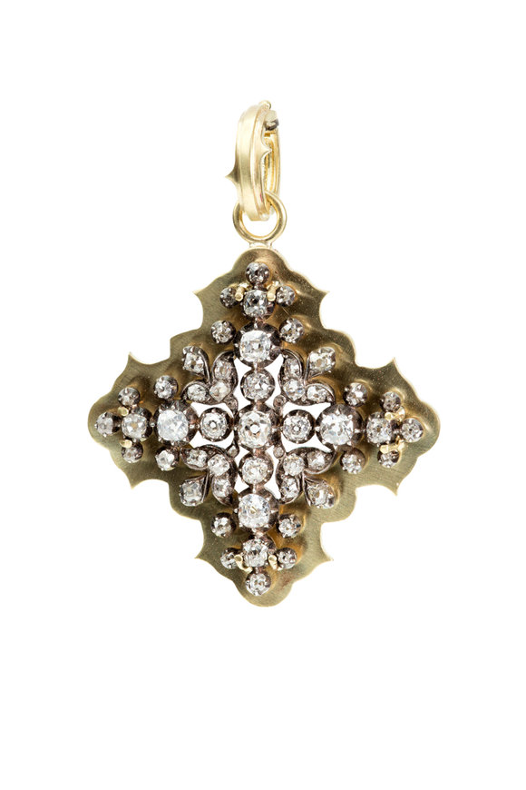 Sylva & Cie 18K Yellow Gold Vintage Georgian Pendant