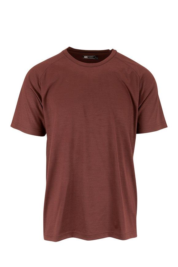 Z-Zegna Burgundy Techmerino™ Performance T-Shirt