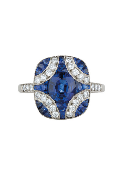 Kwiat - White Gold Sapphire & Diamond Ring