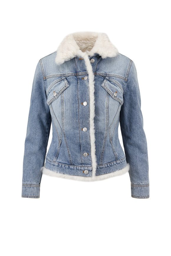 Alexander McQueen Shearling Lined Denim Jacket
