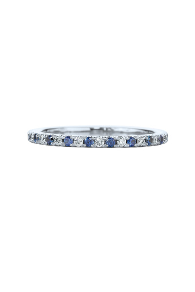 Kwiat - White Gold Blue Sapphire Diamond Ring