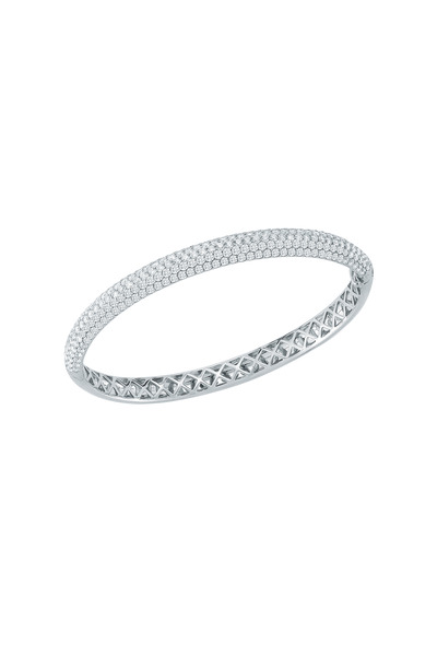 Kwiat - White Gold Stack Diamond Bangle