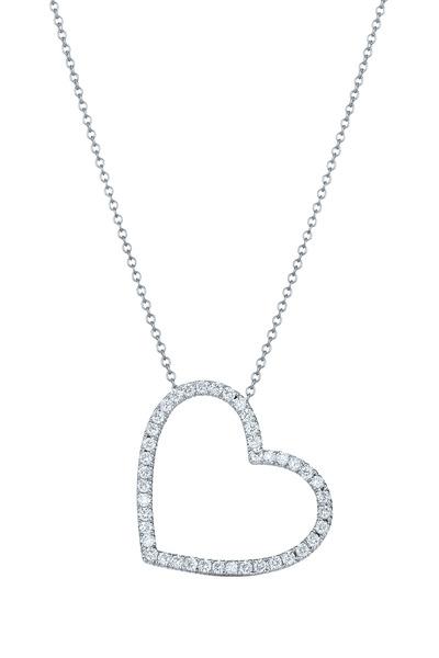 Kwiat - White Gold Diamond Heart Pendant