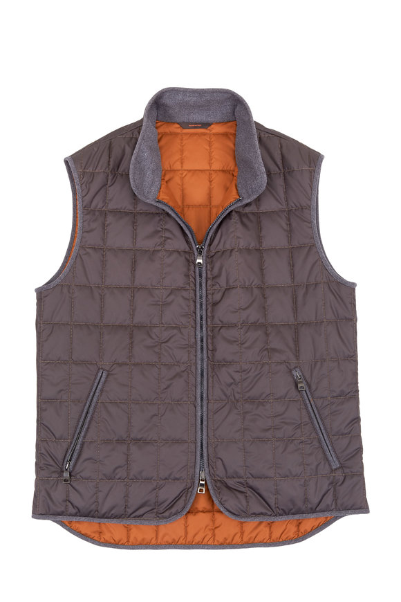 Waterville Theo Charcoal Gray Lead Box Quilted Nylon Vest