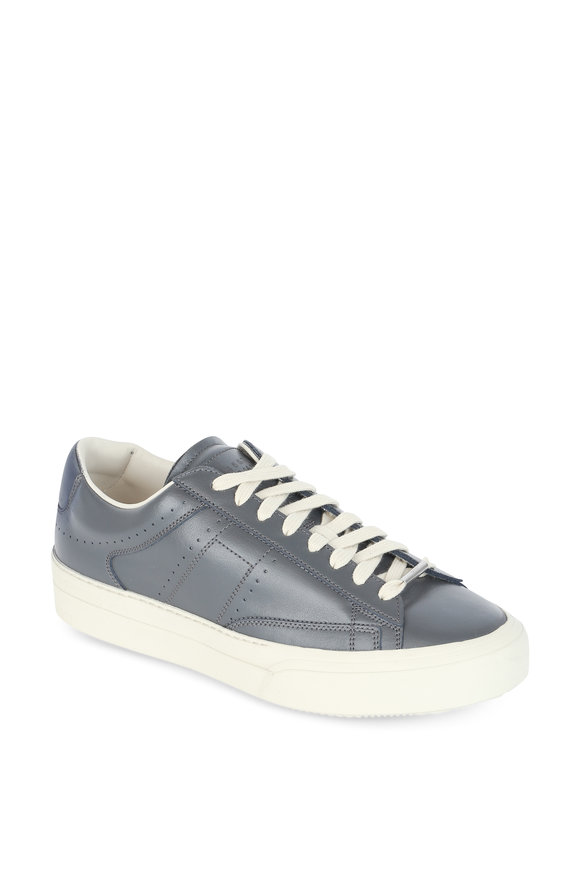 Maison Margiela Ace Gray Leather Low Top Sneaker